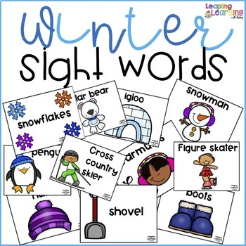 Winter theme sight words