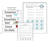 Winter Worksheets: Word Wall Words, Math, Sequencing, Match Game, Science