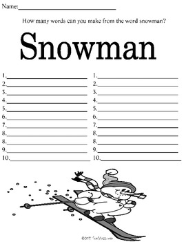 Winter Theme Worksheets and Activities