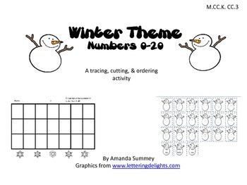 Winter Theme - Write Numbers 0-20 (M.CC.K.CC.3)