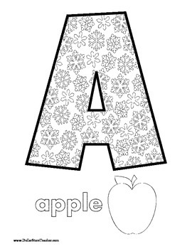 Winter Theme Writing Center Snow Flake Letter Coloring Pages and  Pictures