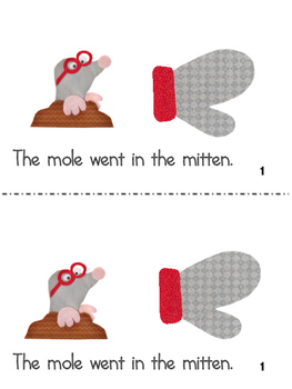 The Mitten and The Hat in Spanish and English
