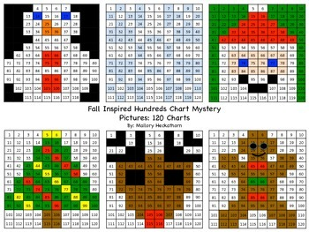 Winter Themed 120 Chart Mystery Picture