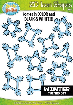 Winter 2D Icon Shapes Clipart {Zip-A-Dee-Doo-Dah Designs}