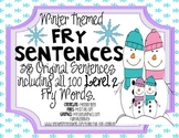 Winter Themed 2nd 100 Fry Word Sentences