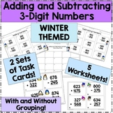 Winter Themed 3-Digit Addition and Subtraction Worksheets