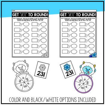 Winter Themed 3rd Grade Math Centers! | Word Problems, Rounding, and More!