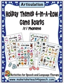 Winter Themed 4-In-A-Row Game Boards for the /r/ Phoneme