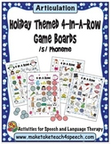 Winter Themed 4-In-A-Row Game Boards for the /s/ Phoneme