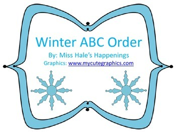 Winter Themed ABC Order