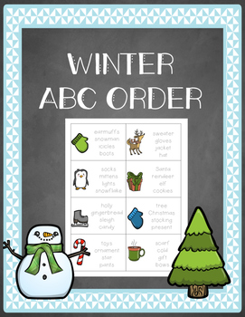 Winter-Themed ABC Order Scoot/Center