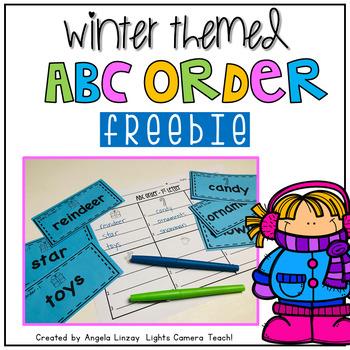 Winter Themed ABC FREEBIE