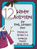 Winter Themed Activities for Math, Writing and More