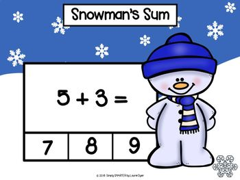 Winter Themed Addition Activities For GOOGLE CLASSROOM