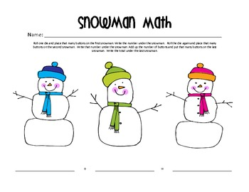 Winter Themed Addition Math Mats