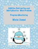 Winter Themed: Addition, Subtraction and Multiplication Word Problems PM