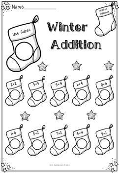 Winter Themed Addition Workbook