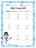 Winter Themed Addition Worksheet