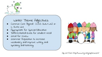 Winter Themed Adjective Packet