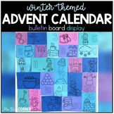 Winter Themed Advent Calendar Bulletin Board Display + Countdown
