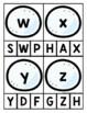 Winter Themed Alphabet Clip Cards