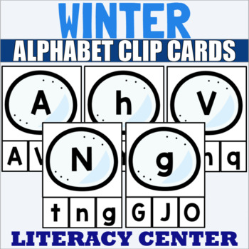 Winter Themed Alphabet Clip Cards