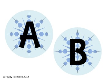 Winter Themed Alphabet & Pennant {Snowflakes}