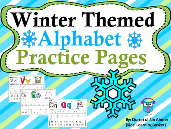 Winter Themed Alphabet Practice Pages (Aa - Zz):