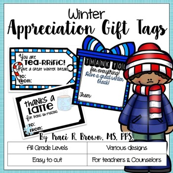 Winter Themed Appreciation Gift Tags