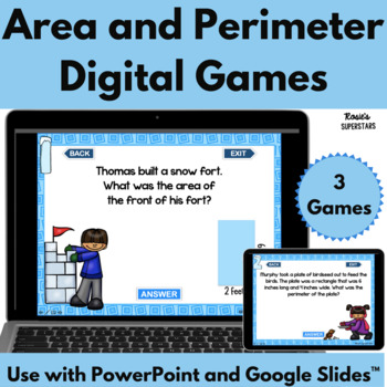 Winter Themed Area and Perimeter Digital Games