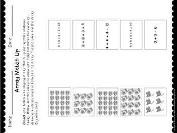 Winter-Themed Arrays CCSS Aligned