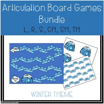 Winter-Themed Articulation Board Games BUNDLE