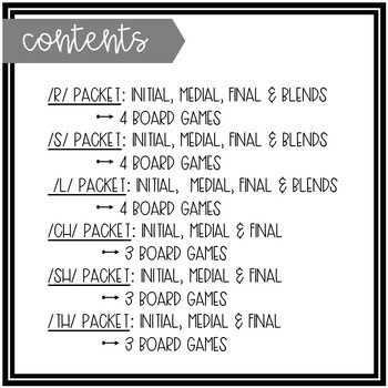 Winter-Themed Articulation Board Games BUNDLE
