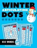 Winter Themed Articulation Dots (No Prep!)