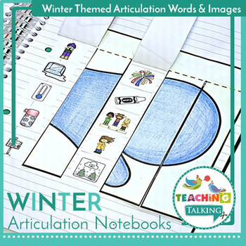 Winter Articulation Activities for Notebooks