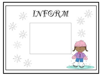 Winter-Themed Author's Purpose Sorting Cards - FREE