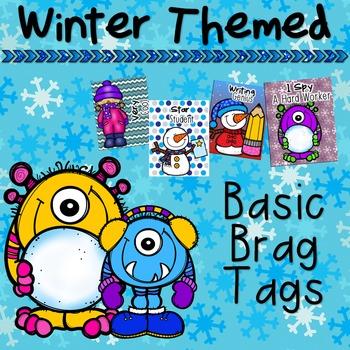 Winter Themed Basic Brag Tags