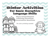 Winter Themed Basic Language Activities