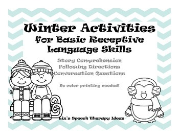 Winter Themed Basic Language Activities