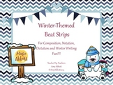 Music Winter Themed Beat Strips for Rhythmic Notation, Composition and Dication