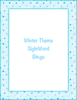 Winter Themed Bingo Game