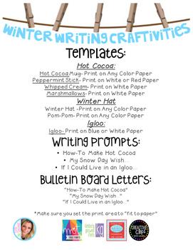 Winter Themed Bulletin Board Writing Crafts