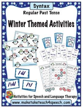 Winter Themed Bundle for Regular Past Tense