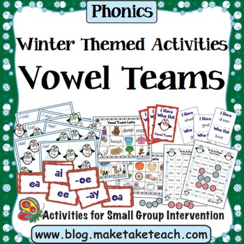 Vowel Teams - Winter Themed Bundle