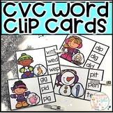Winter Themed CVC Clip Cards