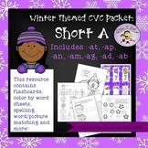 CVC Short A Winter Themed Packet - No Prep