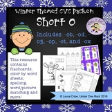 CVC Short O Winter Themed Packet - No Prep