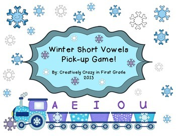 Winter Themed Phonics CVC Vowel Word Sort Center/ Activity