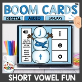 Winter Themed CVC Word Practice Boom Cards