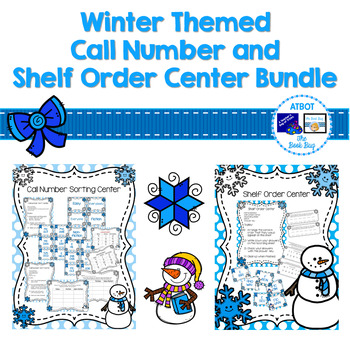 Winter Themed Call Number and Shelf Order Center Bundle